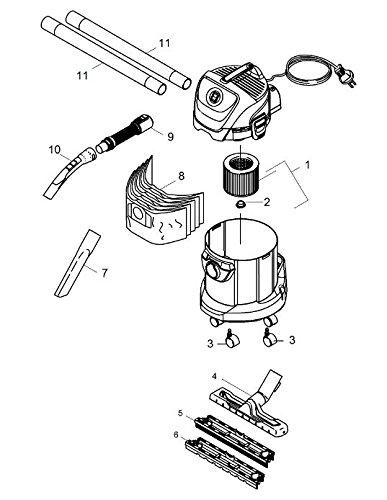 Plan de montage de l'aspirateur à cendres Karcher WD3 Premium